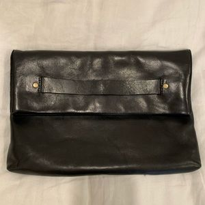 Madewell fold over clutch